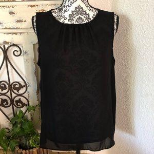 Apt 9 black sheer sleeveless blouse